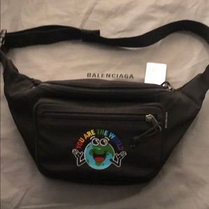 Brand new Balenciaga you are the world fanny pack